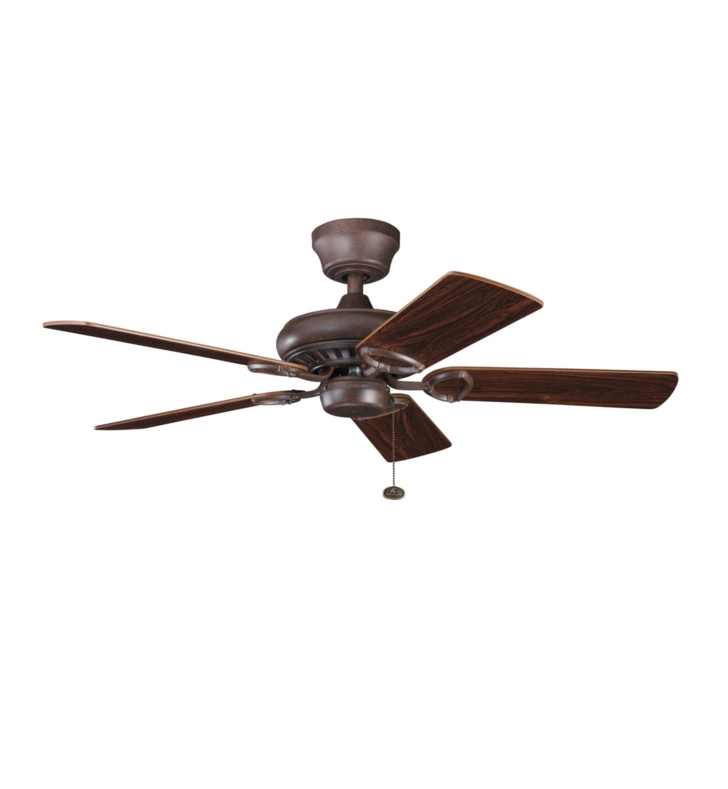 "Kichler 337013TZ Sutter Place 42"" Indoor Ceiling Fan with 5 Blades and Downrod"