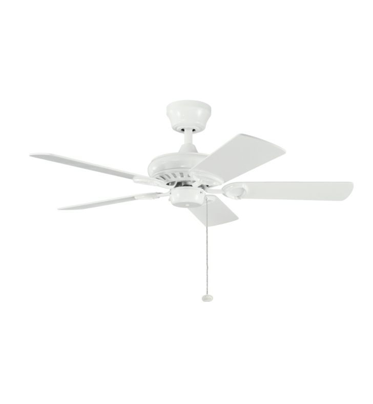 "Kichler 337013WH Sutter Place 42"" Indoor Ceiling Fan with 5 Blades and Downrod"