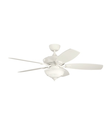 "Kichler 337016SNW Canfield Pro 52"" Indoor Ceiling Fan with 5 Blades, Cool-Touch Remote and Downrod"