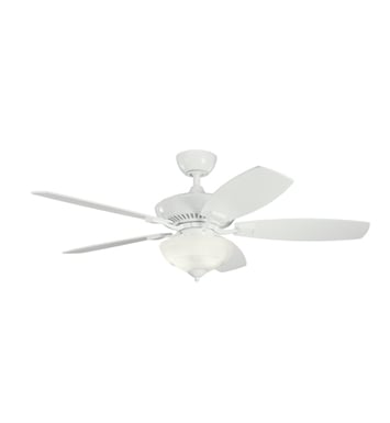 "Kichler 337016WH Canfield Pro 52"" Indoor Ceiling Fan with 5 Blades, Cool-Touch Remote and Downrod"