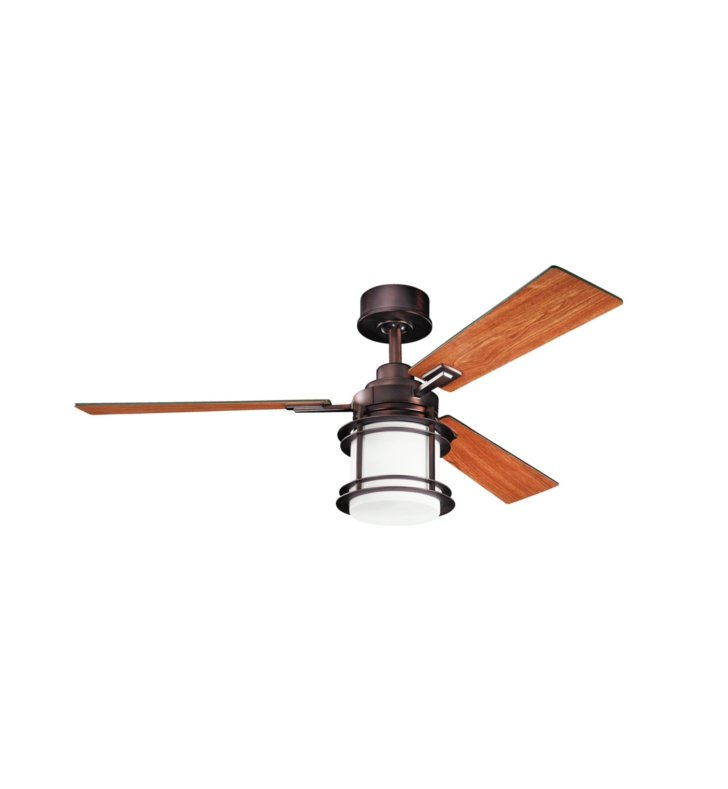 "Kichler 300157OBB Pacific Edge 52"" Indoor Ceiling Fan with 3 Blades, Cool-Touch Remote and Downrod"