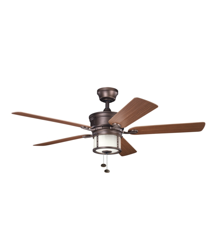 "Kichler 310105WCP Deckard 52"" Indoor Ceiling Fan with 5 Blades, Light Kit and Downrod"