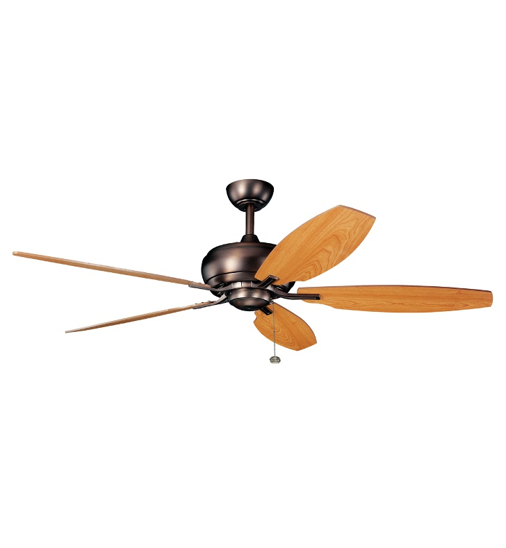 "Kichler 300105OBB Whitmore 60"" Indoor Ceiling Fan with 5 Blades and Downrod"