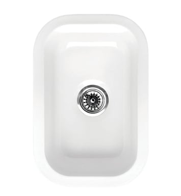 Whitehaus WHE1218 Elementhaus Small Rectangle Drop-in/Undermount Sink with 3 ½ inch Center Drain