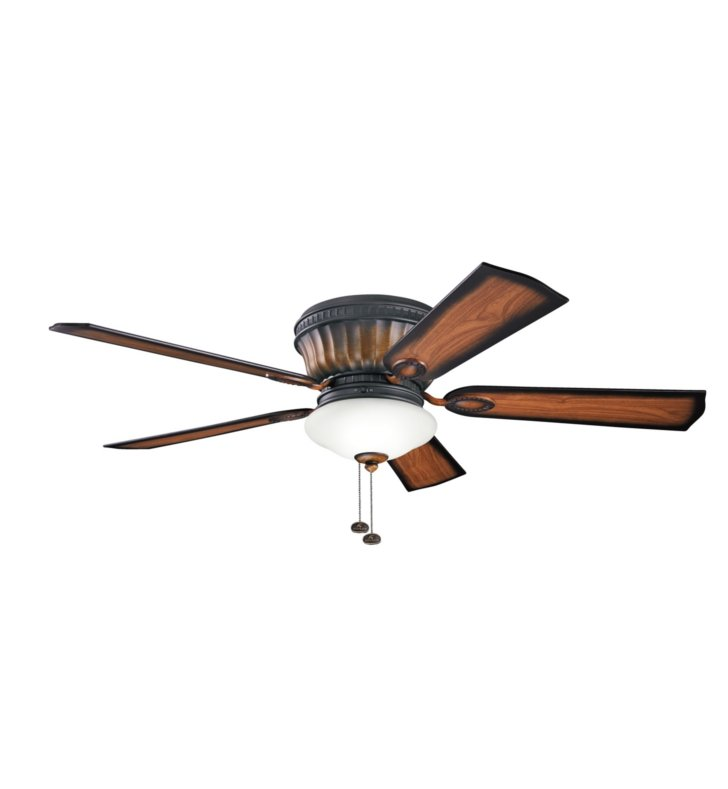 "Kichler 300172MDW Dorset 52"" Indoor Ceiling Fan with 5 Blades and Light Kit"