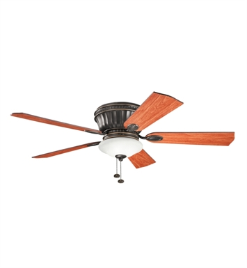 "Kichler 300172OZ Dorset 52"" Indoor Ceiling Fan with 5 Blades and Light Kit"