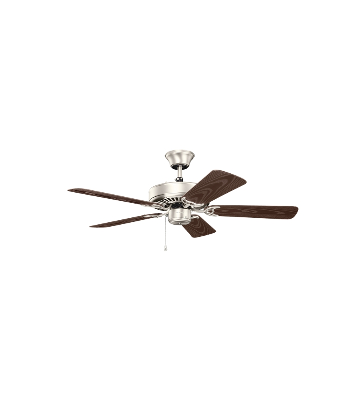"Kichler 414NI Basics Revisited 42"" Indoor Ceiling Fan with 5 Blades and Downrod"