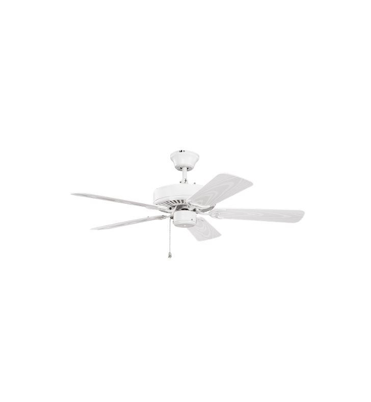 "Kichler 414SNW Basics Revisited 42"" Indoor Ceiling Fan with 5 Blades and Downrod"