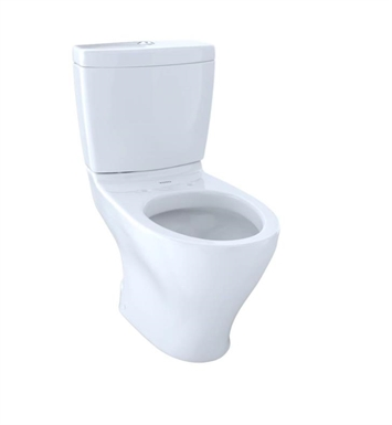 TOTO CST412MF#11 Aquia Close Coupled Two-Piece Elongated Toilet with 1.6 GPF & 0.9 GPF Dual Flush With Finish: Colonial White