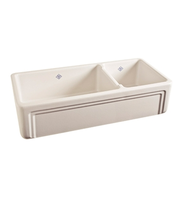 Rohl RC4018BS Shaws Apron Front Fireclay Kitchen Sink in Biscuit