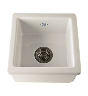 Rohl RC1515BS Shaws Undermount Fireclay Kitchen or Bar/Food Prep Sink in Biscuit