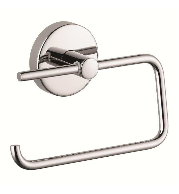 "Hansgrohe 40526820 S/E 6 1/8"" Toilet Paper Holder With Finish: Brushed Nickel"