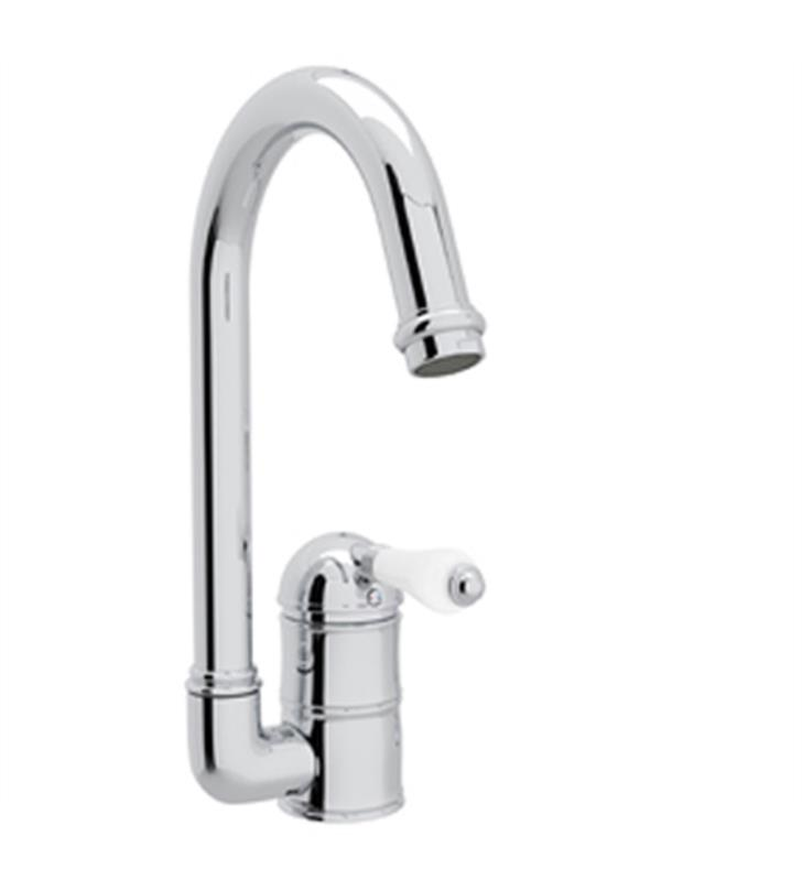 "Rohl A3606-6.5 Country Kitchen 6 1/2"" Deck Mounted C-Spout Bar/Food Prep Faucet"