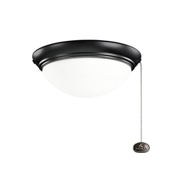 Kichler 380120SBK 2-Bulb Flush Mount Indoor Ceiling Fixture