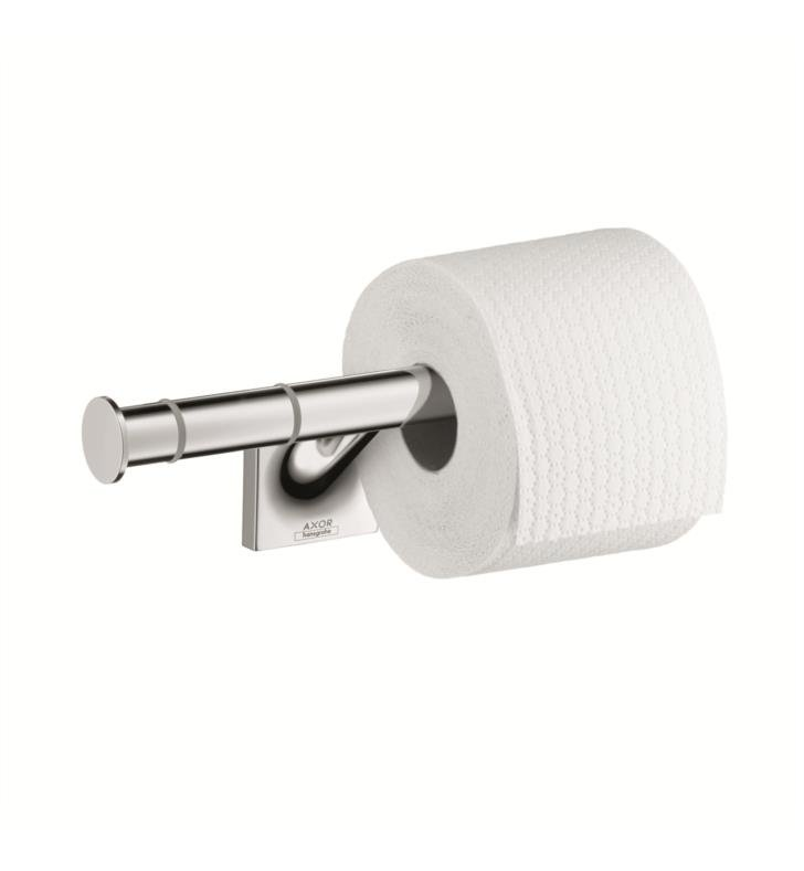 "Hansgrohe 42736000 Axor Starck Organic 10 1/8"" Double Toilet Paper Holder in Chrome"