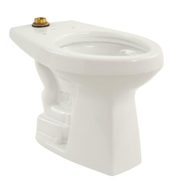 TOTO CT705ELNG#01 Commercial Flushometer Floor Mount Elongated Bowl with 1.28 GPF With Finish: Cotton White with CeFiONtect Ceramic Glaze