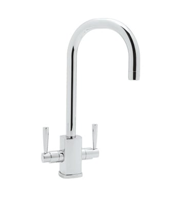 "Rohl U-4209-APC Contemporary Single Hole Bar Faucet With Square Body And ""C"" Spout With Finish: Polished Chrome"