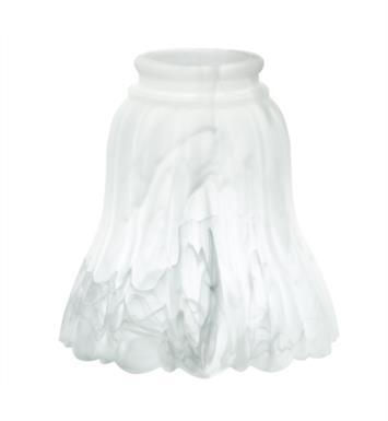 "Kichler 340128 2 1/4"" Alabaster Fan Glass Shade in White - Pack of 4"