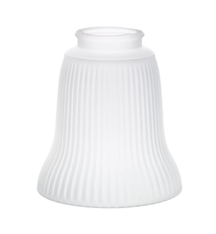 "Kichler 340114 2 1/4"" Ribbed Frosted Ribbed Fan Glass Shade in Frosted - Sold as a package of 4"
