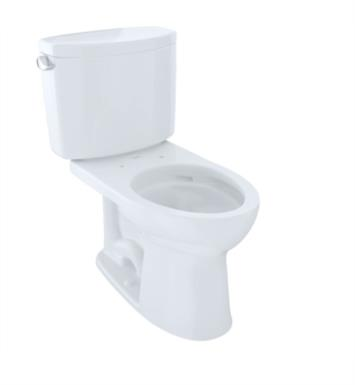 TOTO CST454CEFG#01 Drake II Two-Piece Elongated Toilet with 1.28 GPF Single Flush With Finish: Cotton White with CeFiONtect Ceramic Glaze
