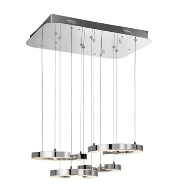 Elan Lighting 83338 Crushed Ice™ Pendant Cluster in Chrome Finish