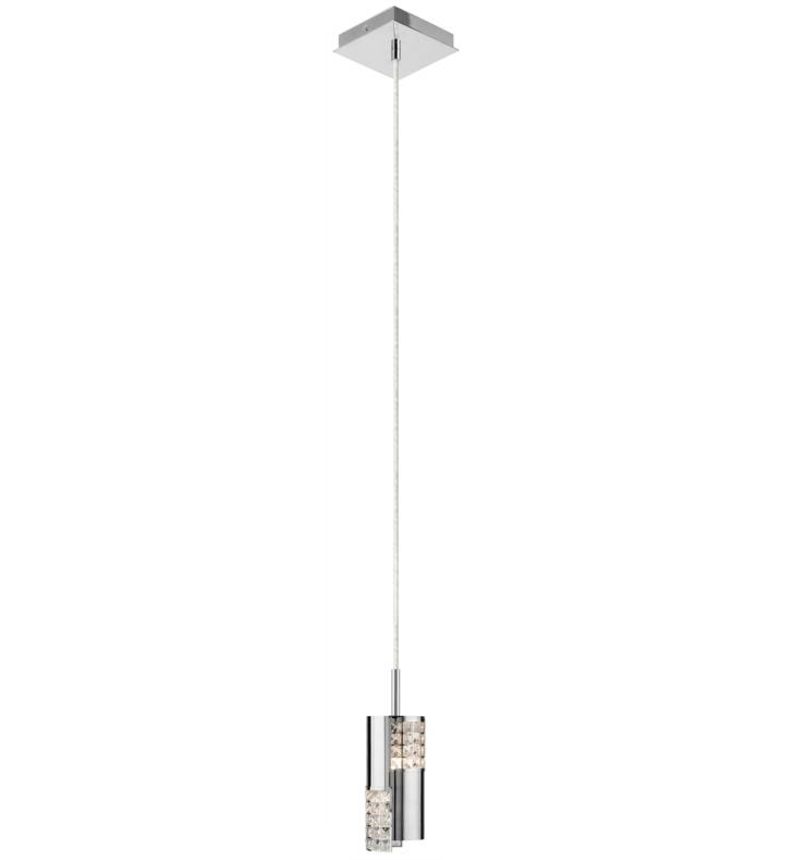 "Elan Lighting 83172 Daudet 1 Light 3 1/4"" Halogen Mini Pendant in Chrome Finish"