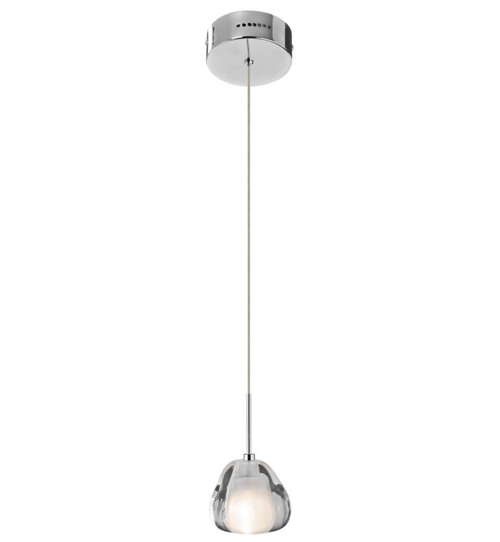 "Elan Lighting 83046 Eisa 1 Light 3 1/2"" Halogen Mini Pendant in Chrome Finish"