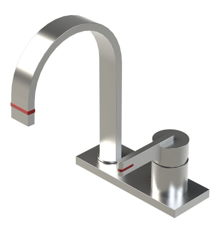 Rubinet 8RRTLCHCH R10 Single Control Bar Faucet With Finish: Main Finish: Chrome | Accent Finish: Chrome
