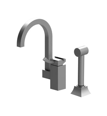 Rubinet 8NMQ1SNSN Matthew Quinn Single Control Bar Faucet with Hand Spray With Finish: Main Finish: Satin Nickel | Accent Finish: Satin Nickel