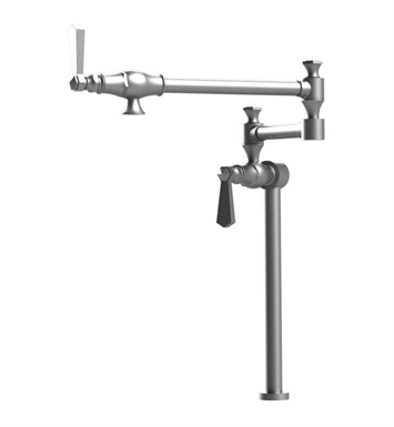 Rubinet 8HHXLCHCH Hexis Deck Mount Pot Filler With Finish: Main Finish: Chrome | Accent Finish: Chrome