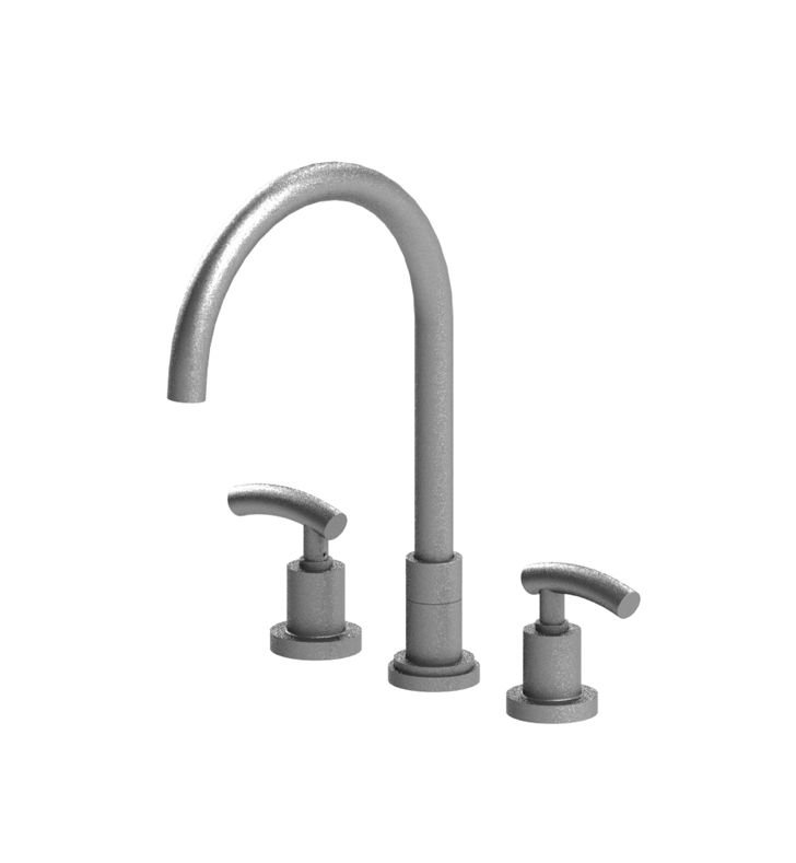 Rubinet 8AHOLCHCH H2O Widespread Kitchen Faucet With Finish: Main Finish: Chrome | Accent Finish: Chrome
