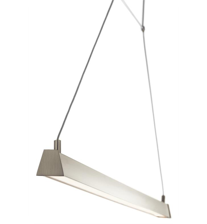 "Elan Lighting 83355 Linule 1 Light 41"" LED Pendant in Brushed Nickel Finish"