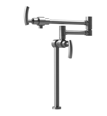 Rubinet 8HHOLSNSN H2O Deck Mount Pot Filler With Finish: Main Finish: Satin Nickel | Accent Finish: Satin Nickel