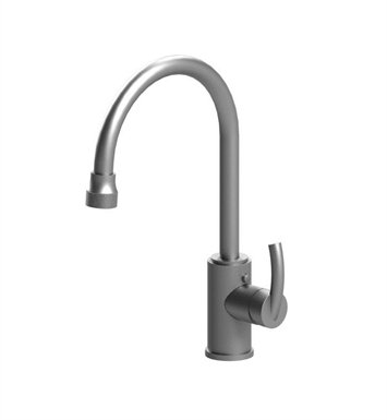 Rubinet 8JHMLMWMR H2O Single Hole Single Control Mini Kitchen Faucet with Retractable Dual Function Spray With Finish: Main Finish: Matt White | Accent Finish: Maroon