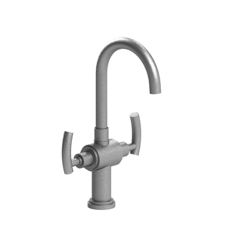 Rubinet 8PHOLSNSN H2O Dual Handle Bar Faucet With Finish: Main Finish: Satin Nickel | Accent Finish: Satin Nickel