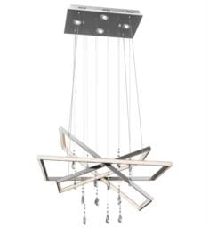 "Elan Lighting 83450 Maze 7 Light 28 1/4"" LED Pendant Chandelier in Chrome Finish"