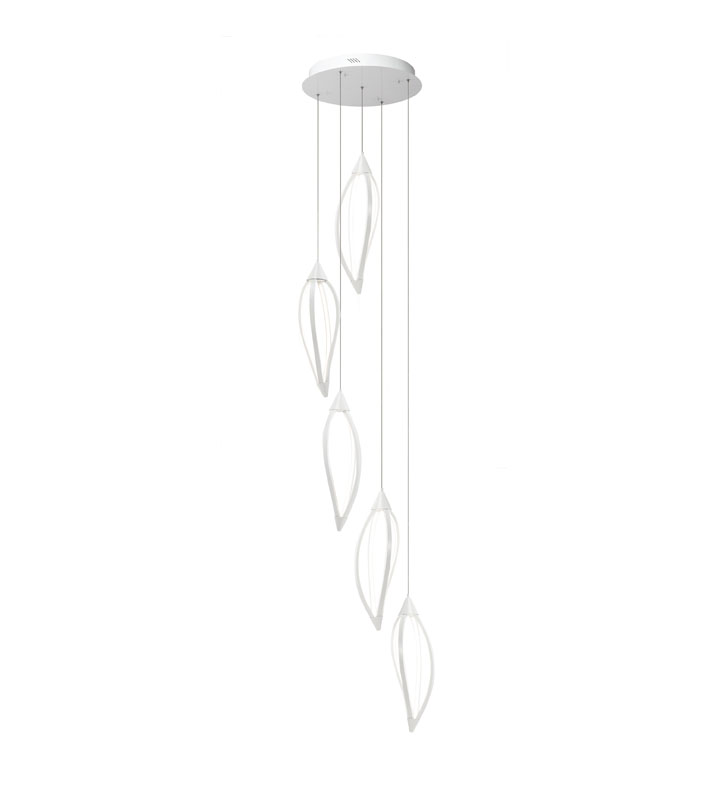 Elan Lighting 83362 Meridian™ 5-Light Pendant in White Finish
