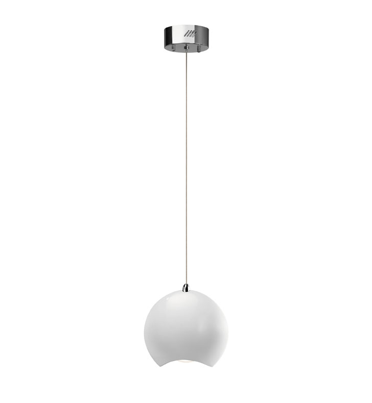 Elan Lighting 83311 Minn™ Mini Pendant in Chrome and White Finish