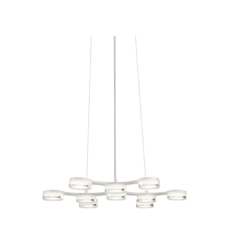 Elan Lighting 83015 Neron™ Chandelier in White Finish