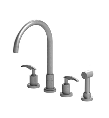 Rubinet 8BLALOBOB LaSalle Widespread Kitchen Faucet with Hand Spray With Finish: Main Finish: Oil Rubbed Bronze | Accent Finish: Oil Rubbed Bronze