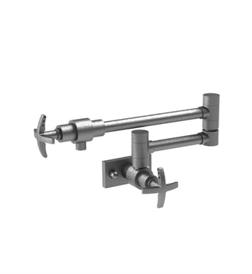 Rubinet 8ELACSCSC LaSalle Wall Mount Pot Filler With Finish: Main Finish: Satin Chrome | Accent Finish: Satin Chrome