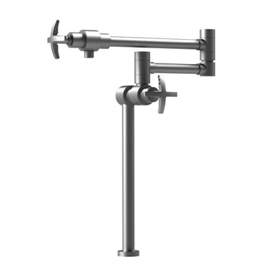Rubinet 8HLACCHCH LaSalle Deck Mount Pot Filler With Finish: Main Finish: Chrome | Accent Finish: Chrome