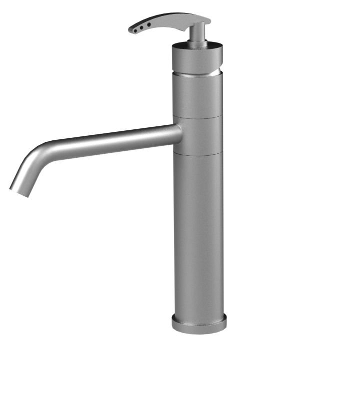 Rubinet 8MLALSCSC LaSalle Single Control Kitchen Faucet With Finish: Main Finish: Satin Chrome | Accent Finish: Satin Chrome