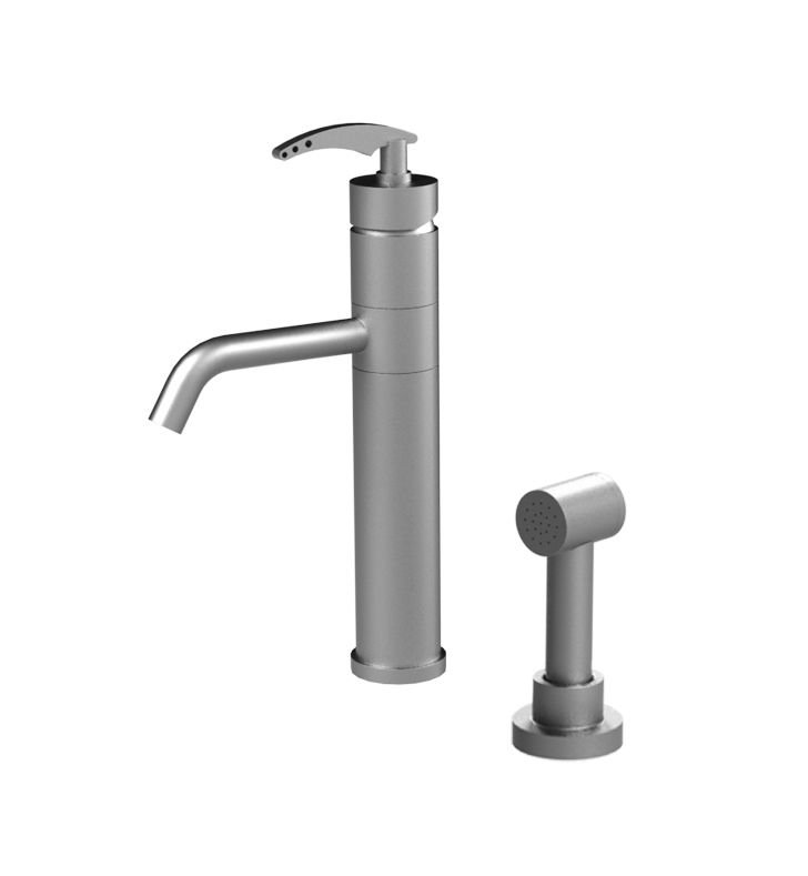 Rubinet 8NLALPNPN LaSalle Single Control Bar Faucet with Hand Spray With Finish: Main Finish: Polished Nickel | Accent Finish: Polished Nickel
