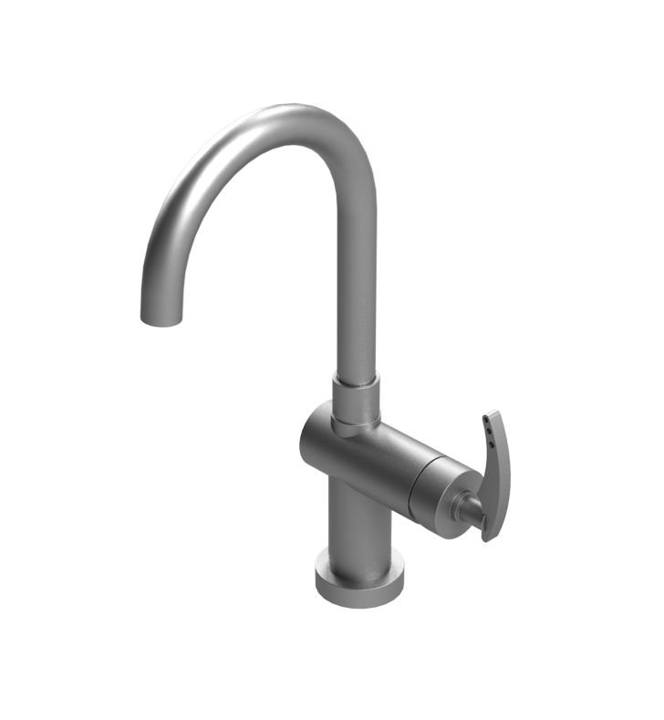 Rubinet 8PLALWHWH LaSalle Single Control Bar Faucet With Finish: Main Finish: White | Accent Finish: White