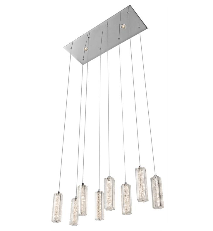 "Elan Lighting 83422 Neruda 10 Light 26"" Warm White LED Mini Pendant in Chrome Finish"