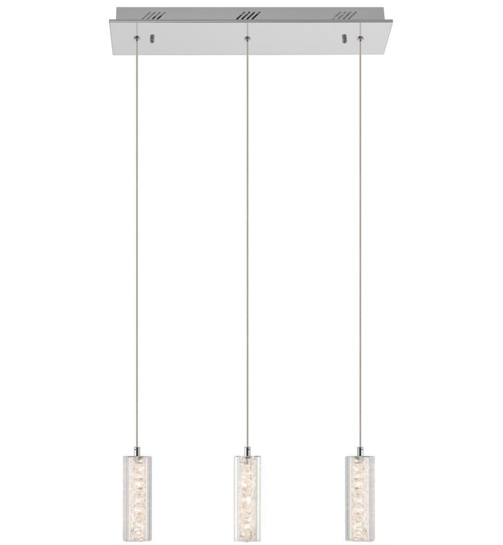 "Elan Lighting 83421 Neruda 3 Light 22 1/4"" Warm White LED Mini Pendant in Chrome Finish"