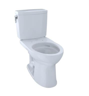 TOTO CST454CUFG#03 Drake II Two-Piece Elongated Toilet with 1.0 GPF Single Flush With Finish: Bone with CeFiONtect Ceramic Glaze