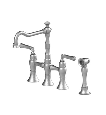 Rubinet 8URVLMBMB Raven Kitchen Bridge Faucet with Hand Spray With Finish: Main Finish: Matt Black | Accent Finish: Matt Black
