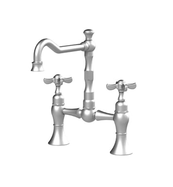 Rubinet 8VRVCBBNC Raven Kitchen Bridge Faucet With Finish: Main Finish: Bright Brass | Accent Finish: Natural Cream